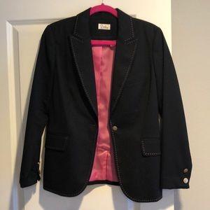 Blazer with pink stitching